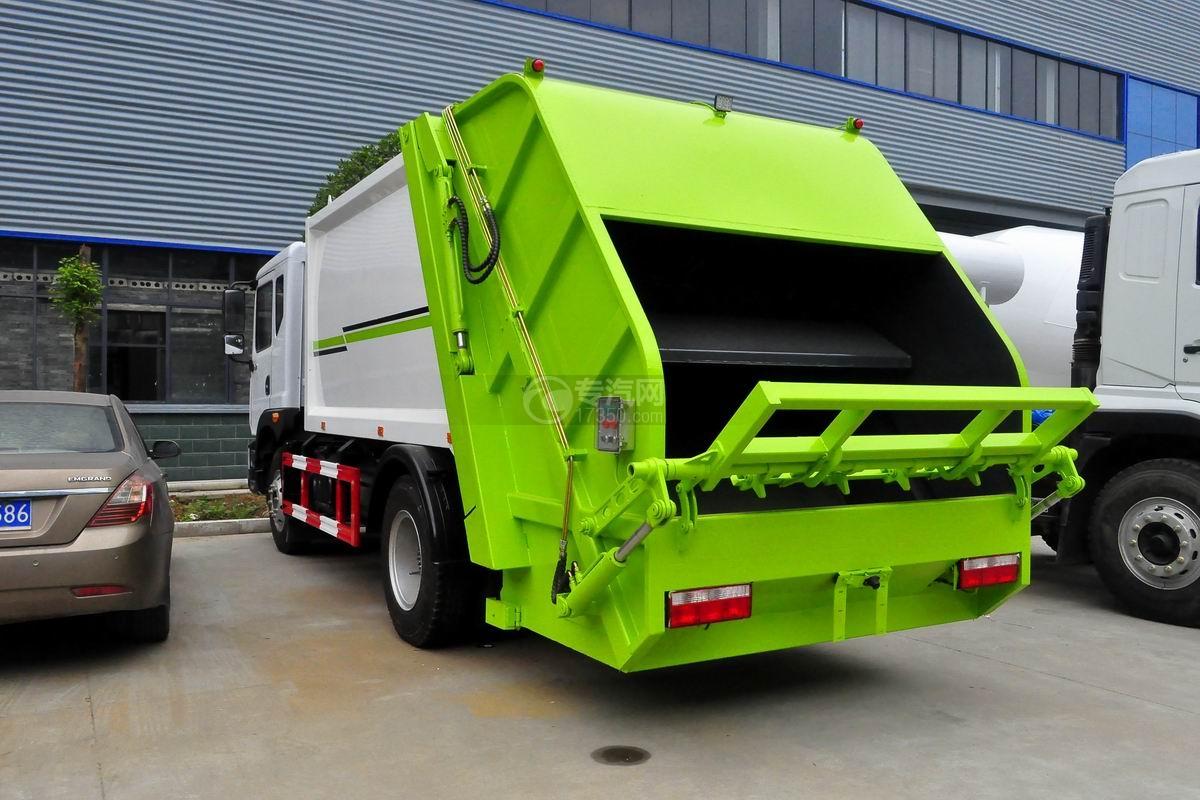 东风多利卡10方压缩式垃圾车右侧后方图