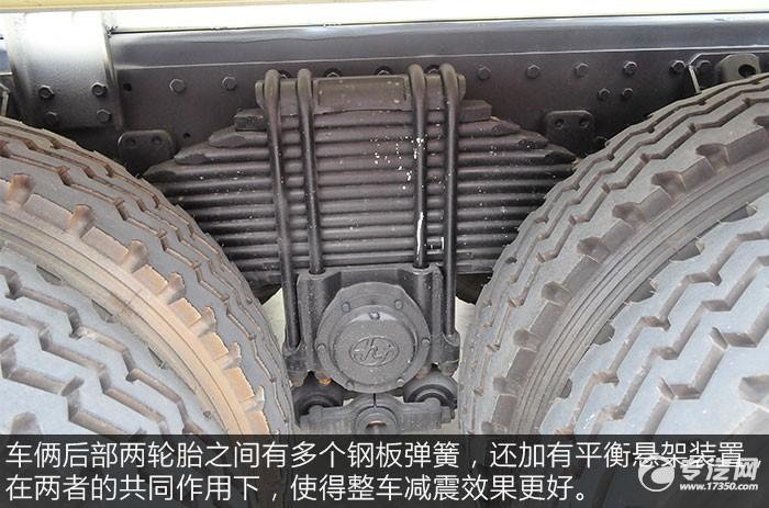 红岩杰狮M500前四后八粉粒物料运输车评测钢板弹簧