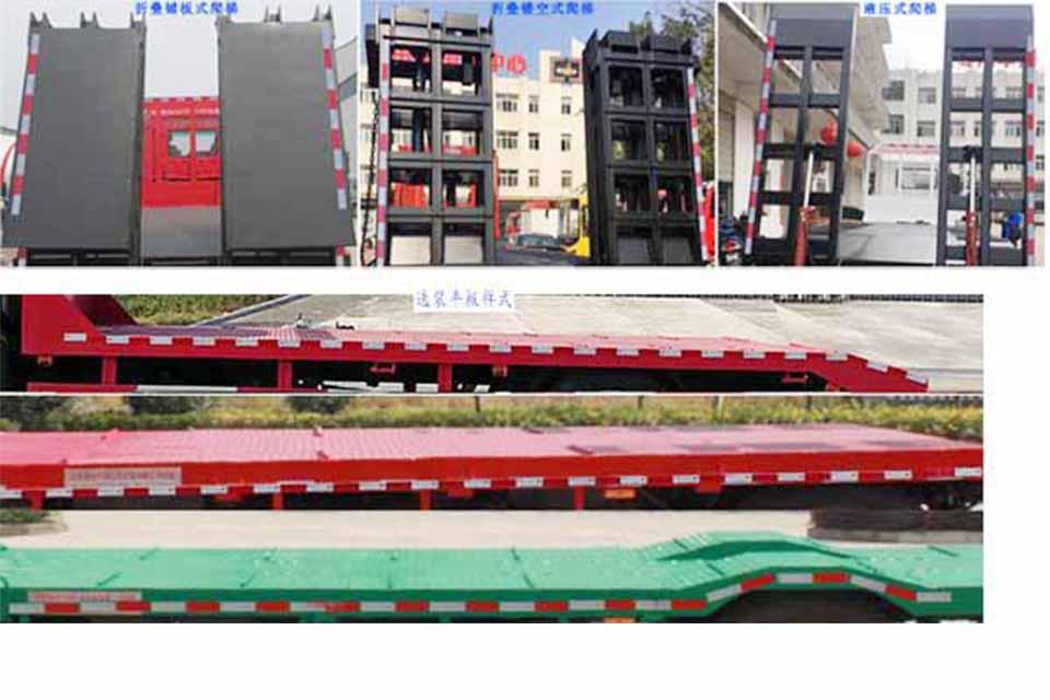 东风专用底盘国六平板运输车尾板