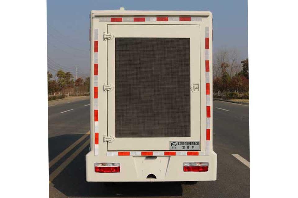 东风途逸微卡国六LED广告宣传车正后方图