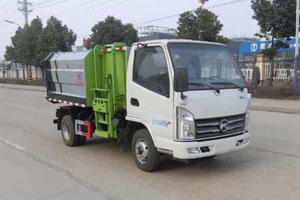 凯马国六自装卸式垃圾车