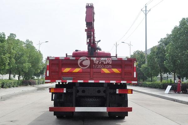 陕汽轩德X6单桥新飞工8吨直臂随车吊右后45度图