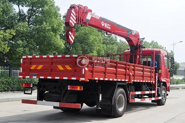 陕汽轩德X6单桥新飞工8吨直臂随车吊正后图