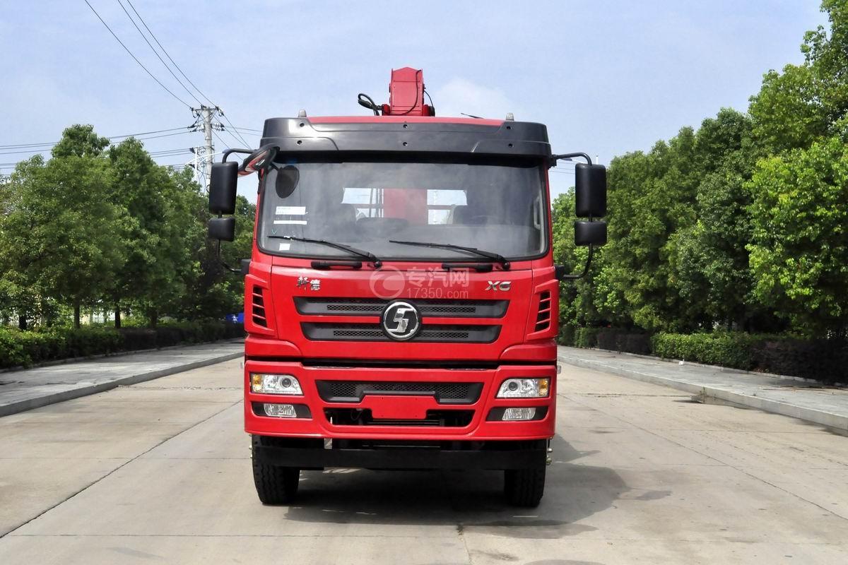 陕汽轩德X6单桥新飞工8吨直臂随车吊正前方位图