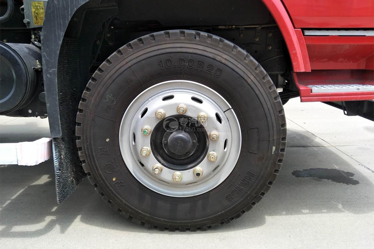 陕汽轩德X6单桥新飞工8吨直臂随车吊轮胎