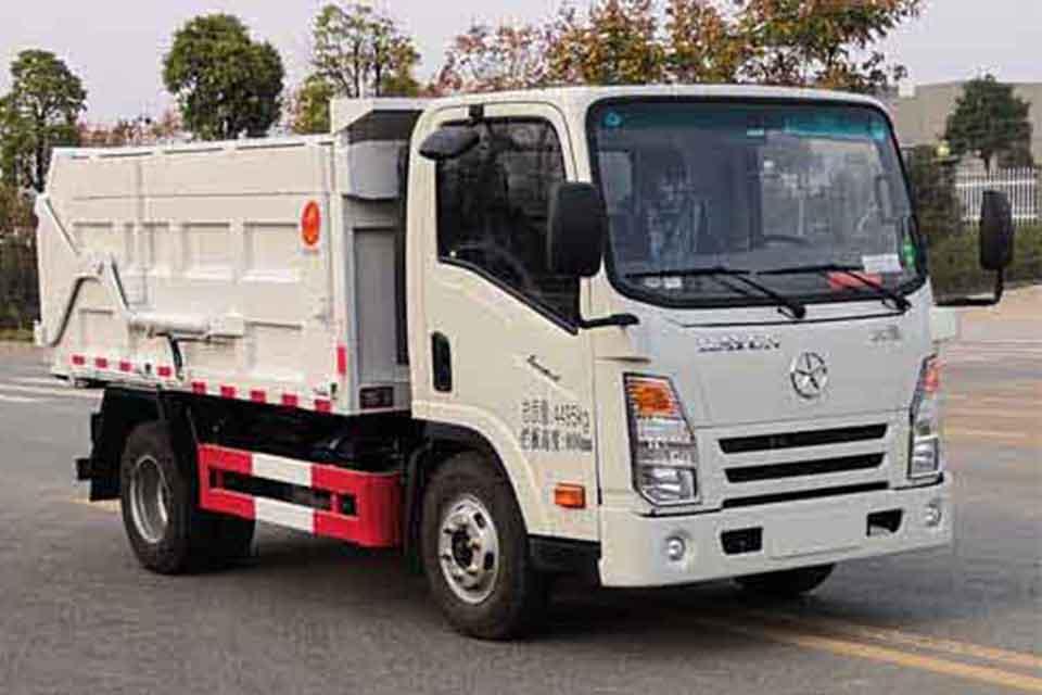 大運奧普力國六單排自卸式垃圾車