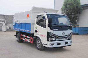 東風多利卡國六壓縮式對接垃圾車