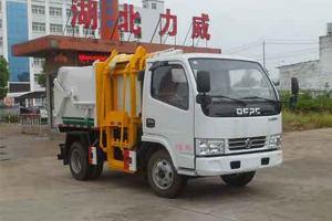 東風小多利卡國六壓縮式對接垃圾車