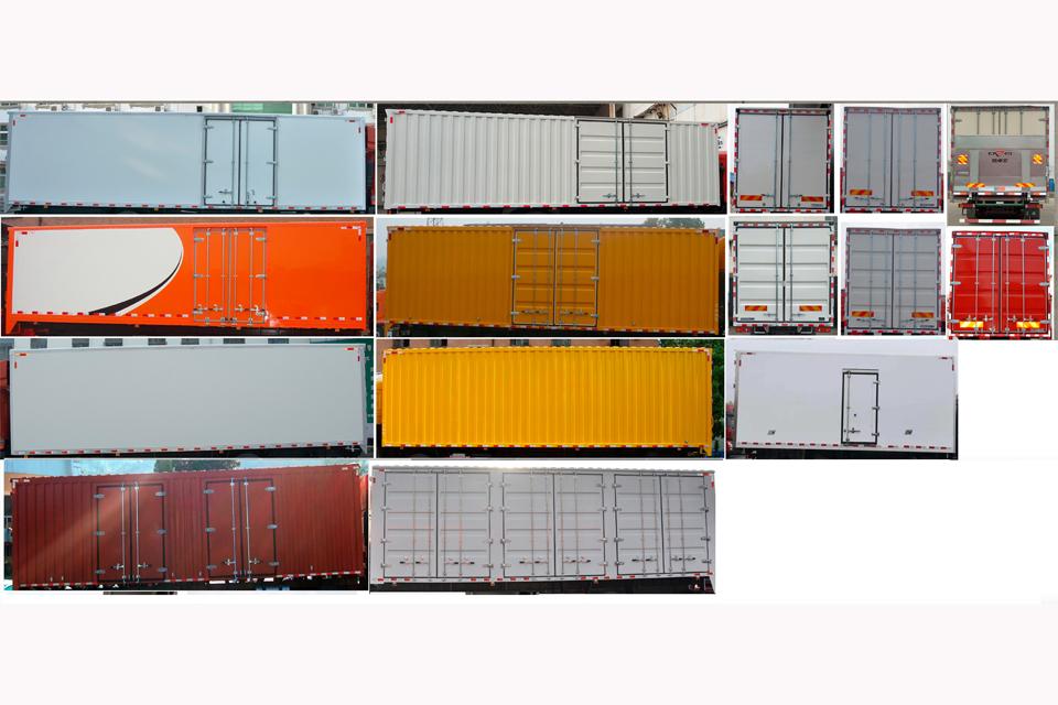 东风天龙小三轴国六9.6米厢式运输车细节