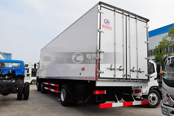 东风天龙小三轴9.4米冷藏车左后图