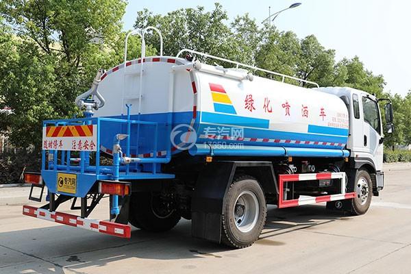 陕汽轩德9系9.8方国六洒水车右后图