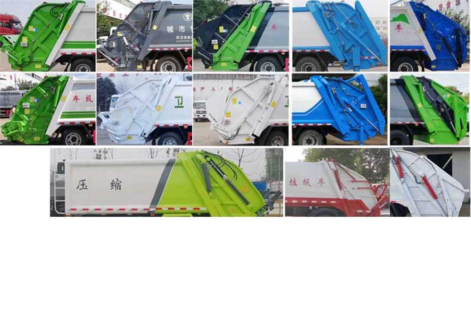 东风专用底盘国六压缩式垃圾车细节