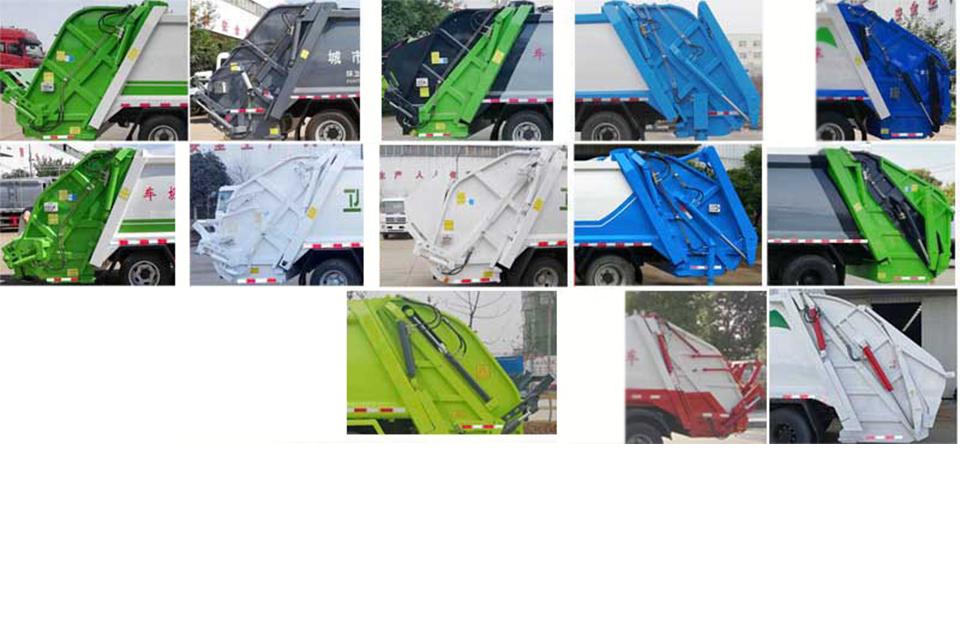 东风后八轮国六压缩式垃圾车细节