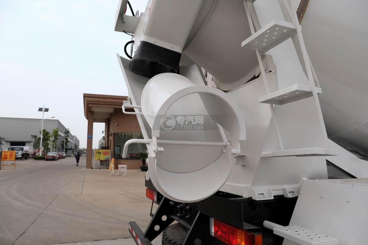 陕汽轩德X6前四后八7.4方搅拌车卸料槽