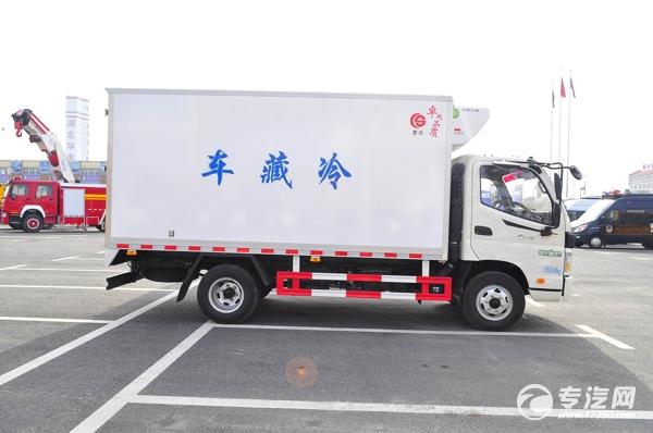 福田欧马可冷藏车右侧图