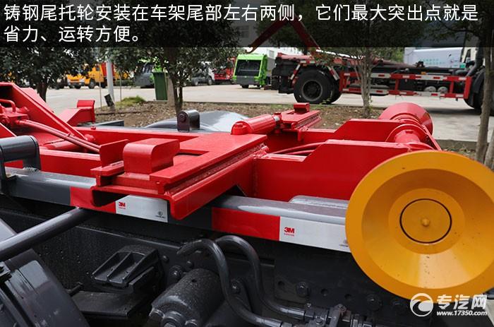 東風專底D3國六車廂可卸式垃圾車托輪
