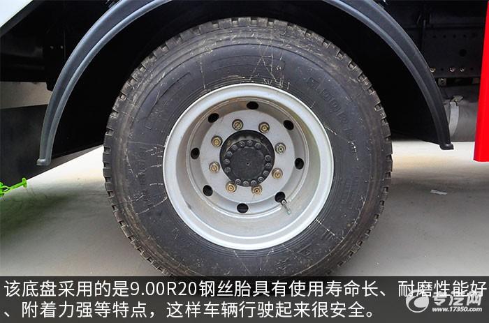 东风多利卡D9压缩式垃圾车轮胎