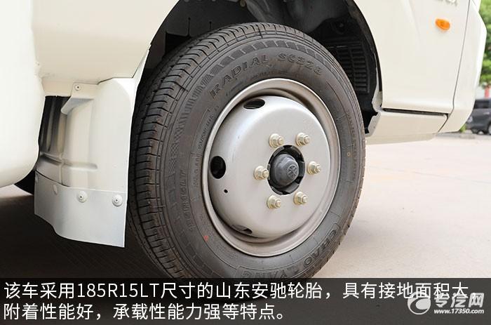 飞碟缔途LED广告宣传车轮胎