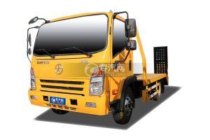 大运奥普力3.3米蓝牌平板运输车