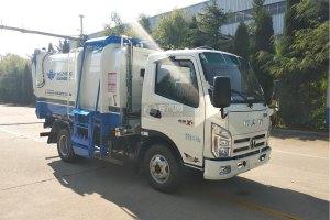 飞碟奥驰蓝牌自装卸式垃圾车图片