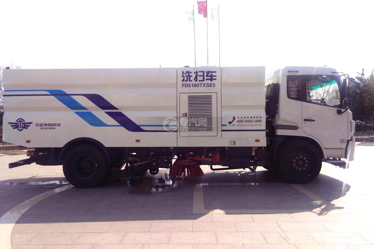 东风天锦16方洗扫车右侧图