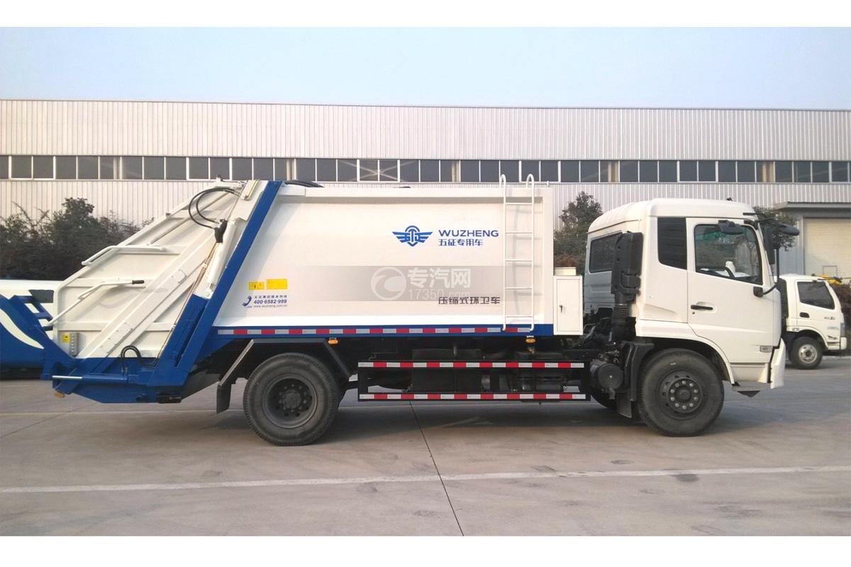 东风天锦12.5方压缩垃圾车右侧图