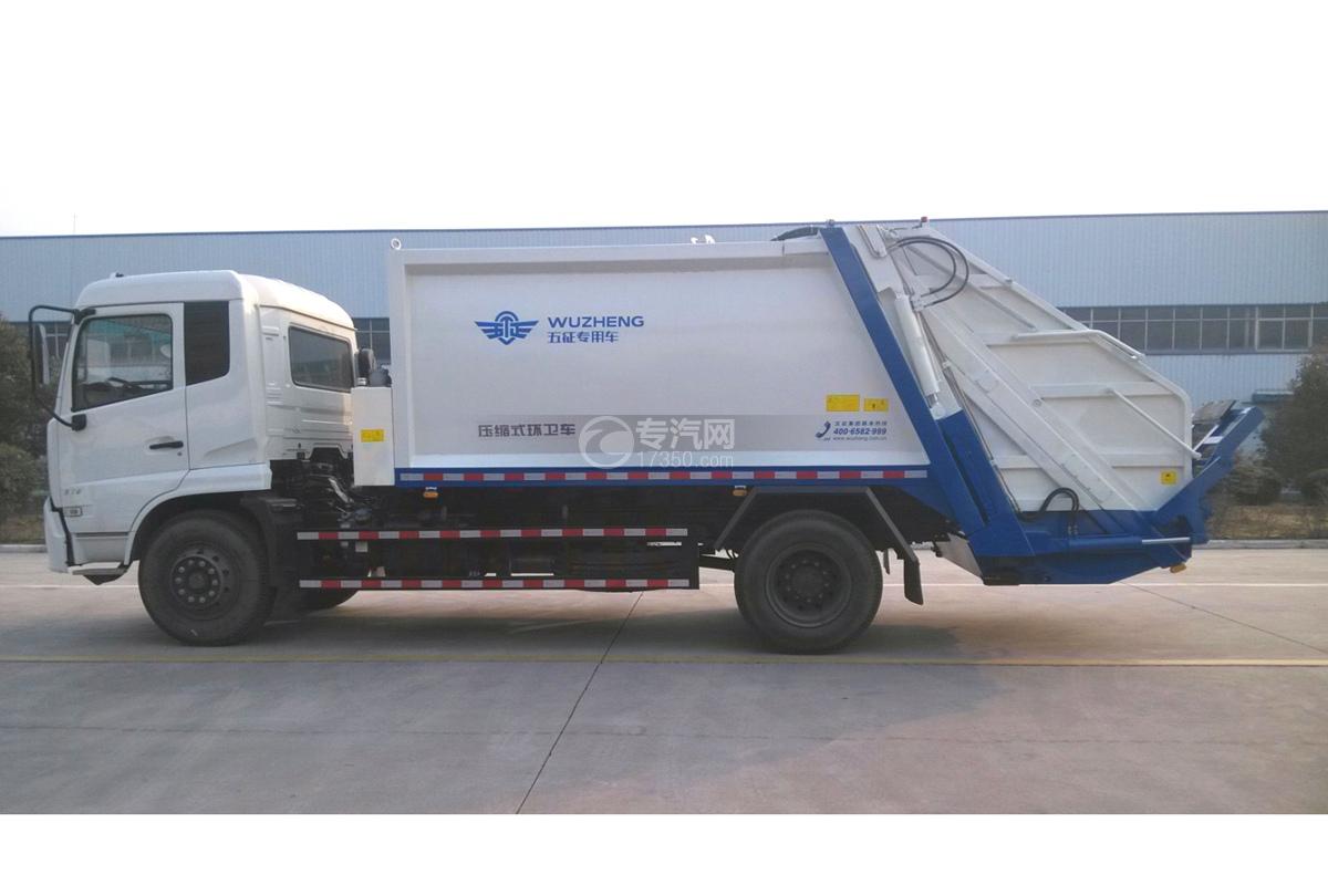 东风天锦12.5方压缩垃圾车左侧图