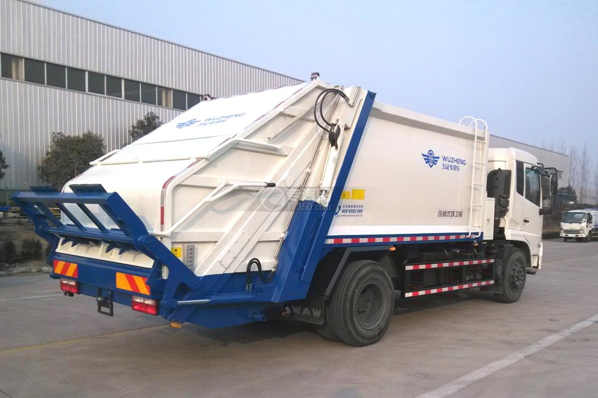 东风天锦12.5方压缩垃圾车右后图