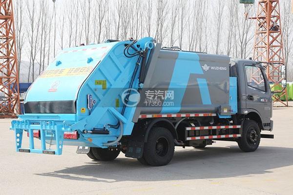 飞碟奥驰A2压缩式垃圾车右后图