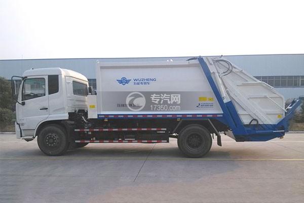 东风天锦14方压缩垃圾车左侧图