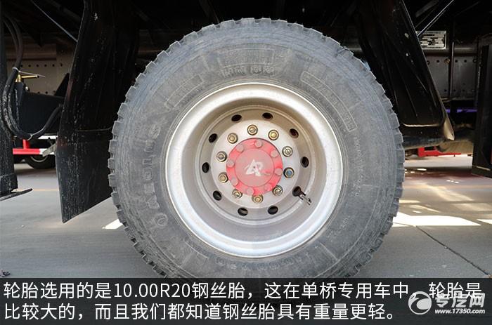 东风多利卡D9单桥8吨直臂随车吊评测轮胎