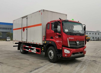 福田瑞沃ES5国六6.2米易燃气体厢式运输车