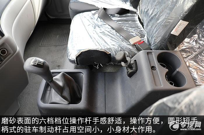 东风天锦VR国六清洗吸污车评测档位操作杆
