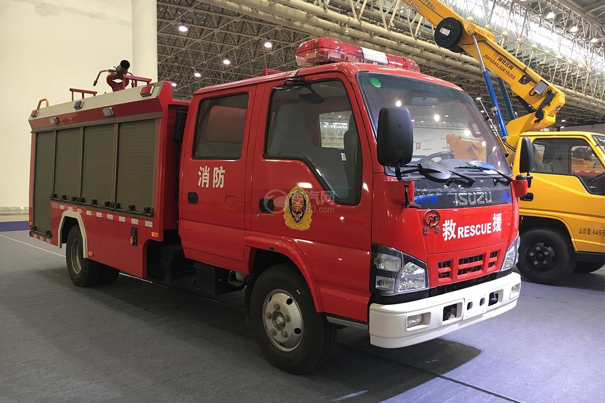 庆铃五十铃双排4K泡沫消防车图片