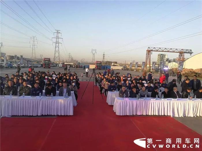 陕汽德龙X5000登陆天津 现场签约203辆订单