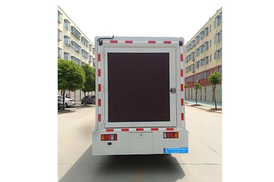 庆铃五十铃ELF单桥国六LED广告宣传车正后方图