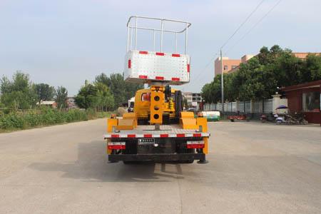 東風凱普特雙排國六16米直臂式高空作業車車尾車