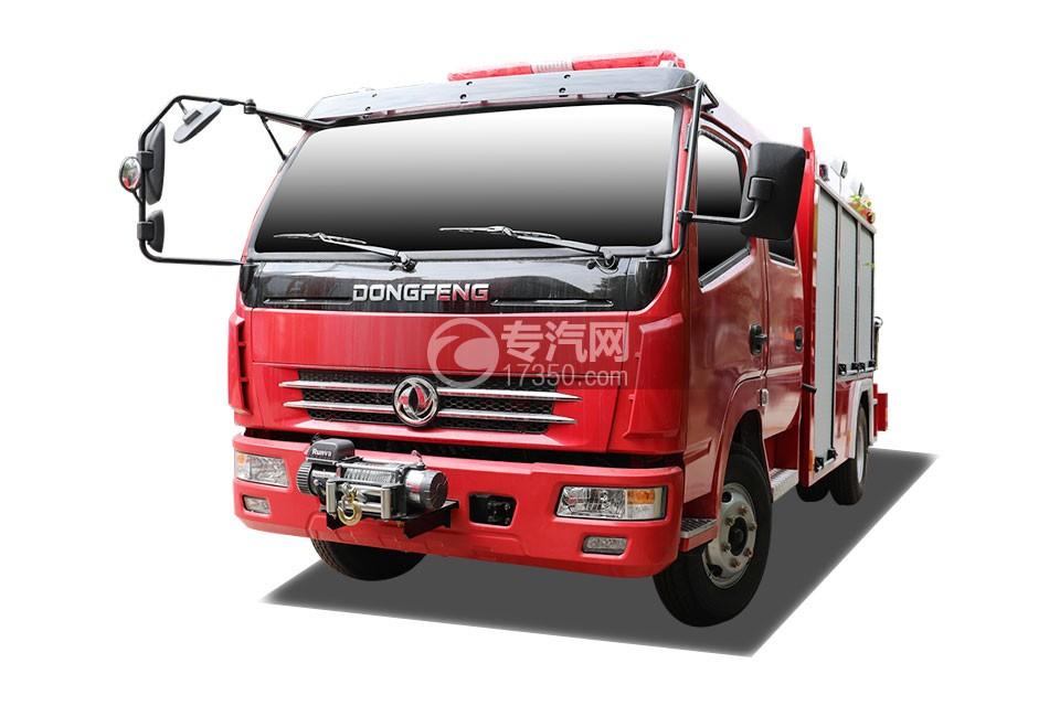 东风多利卡双排抢险救援消防车右前45度图