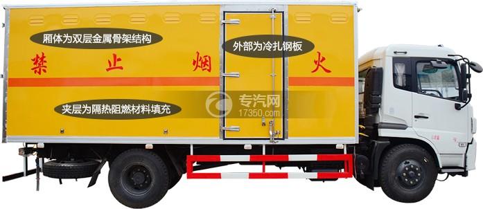 易燃氣體廂式運輸車廂體細節