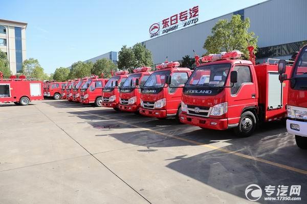 237台福田时代消防救险车正在马不停蹄的生产中