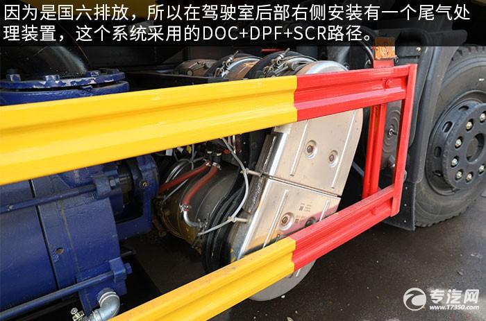 东风随专国六吸污车评测尾气处理装置