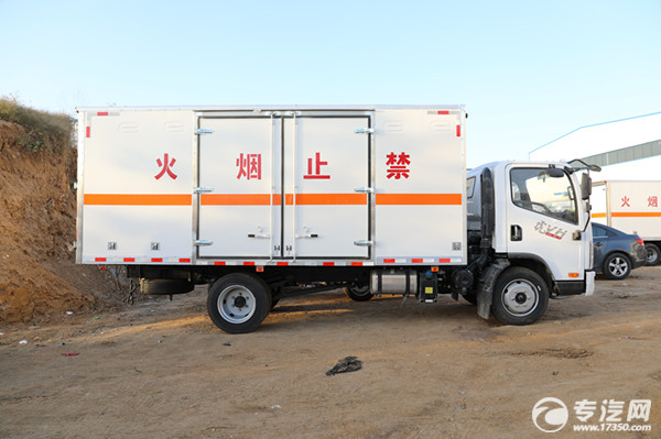 解放虎VN易燃氣體廂式運輸車右側圖