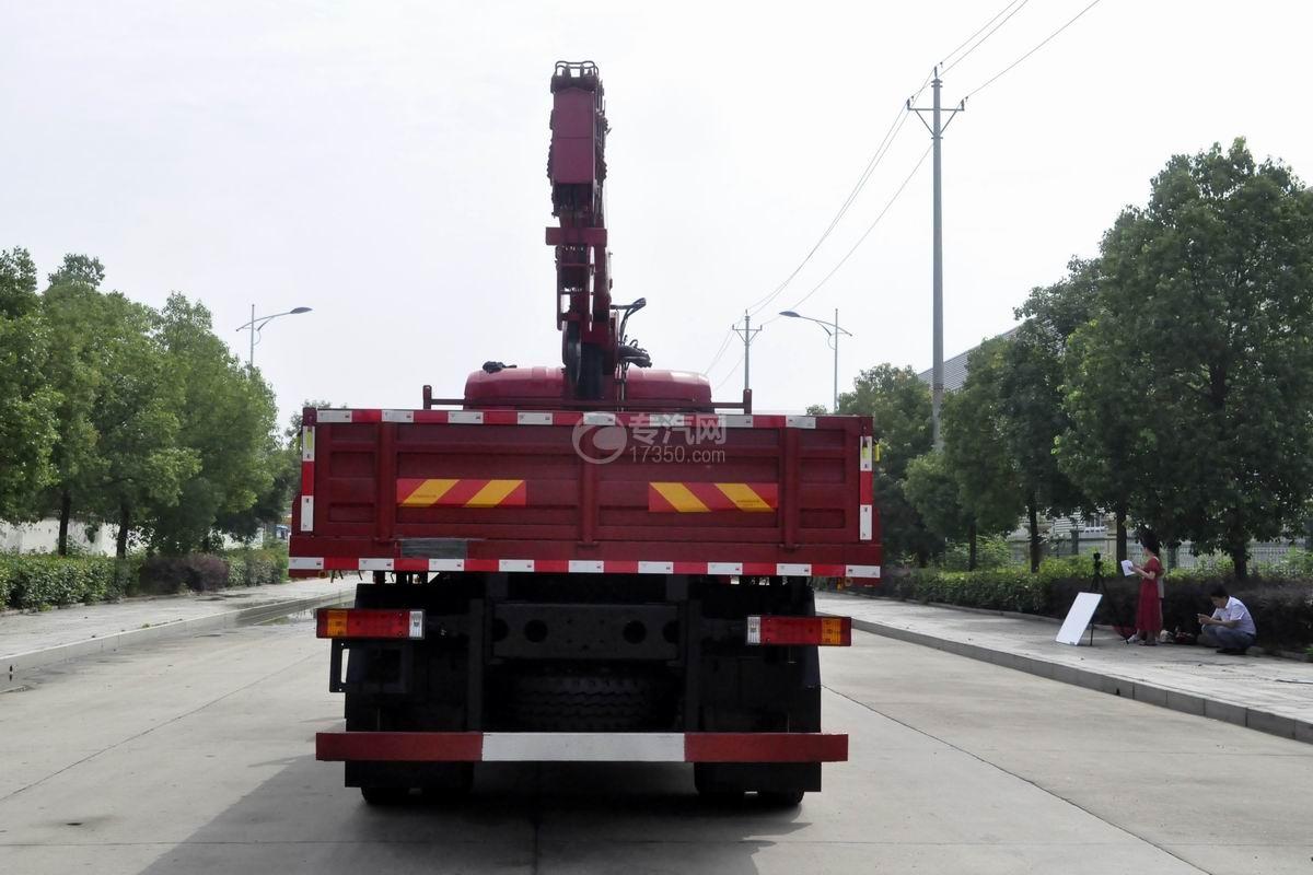 陜汽軒德X6單橋8噸直臂隨車吊正后圖