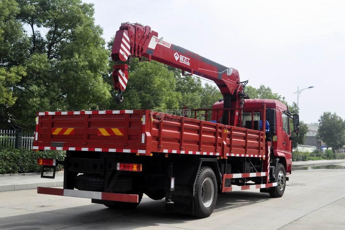 陜汽軒德X6單橋8噸直臂隨車吊右后45度圖