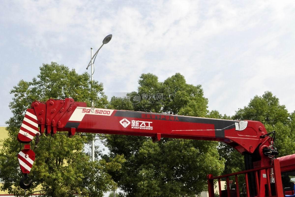 陜汽軒德X6單橋8噸直臂隨車吊吊機
