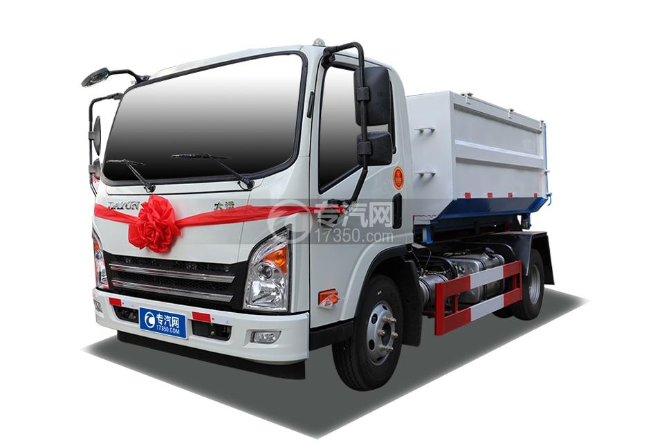 大运新奥普力国六车厢可卸式垃圾车