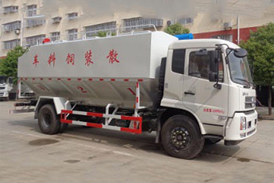 东风天锦国六散装饲料运输车