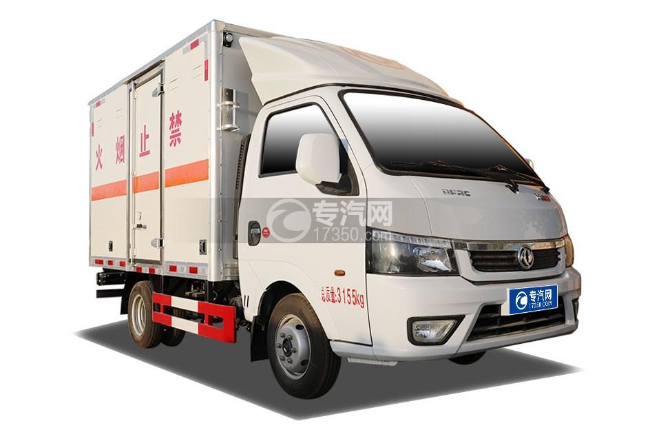 东风途逸国六3米易燃气体厢式运输车