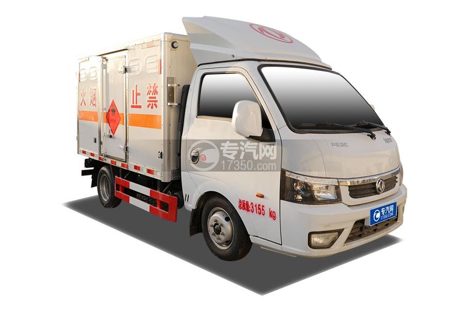 东风途逸T5国六3.4米易燃液体厢式运输车