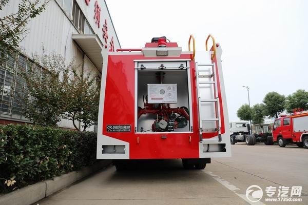東風多利卡雙排水罐消防車消防泵